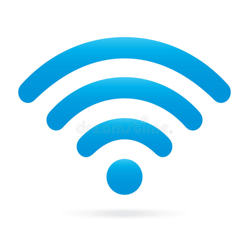 Drahtloses Symbol Himmel Hellblauer Wifi Ikone Auf Lokalisiertem ...