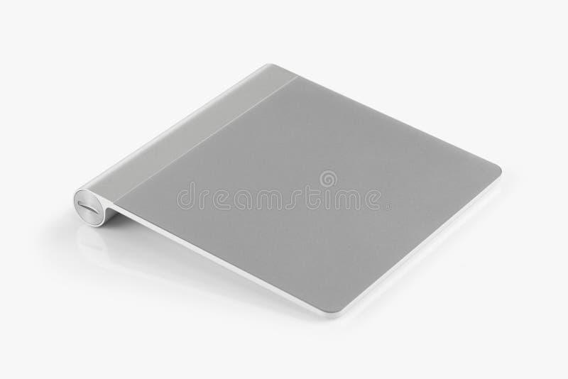 Drahtloses trackpad lokalisiert auf weißem Hintergrund stockbild