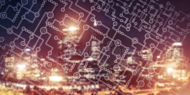 Drahtloses Verbindungs- oder Vernetzungskonzept als Durchschnitte von communicat stockfotos