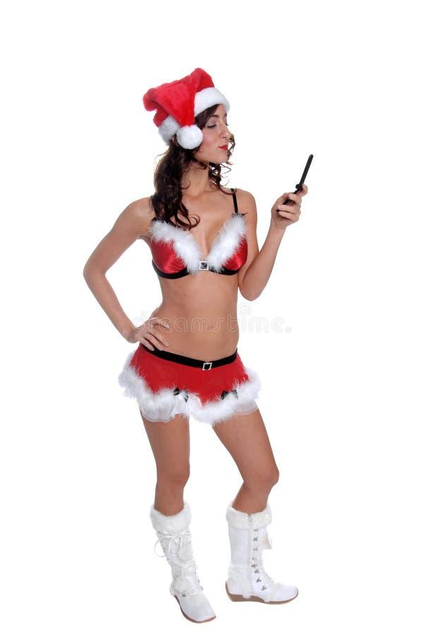 Drahtloses Weihnachten stockbild