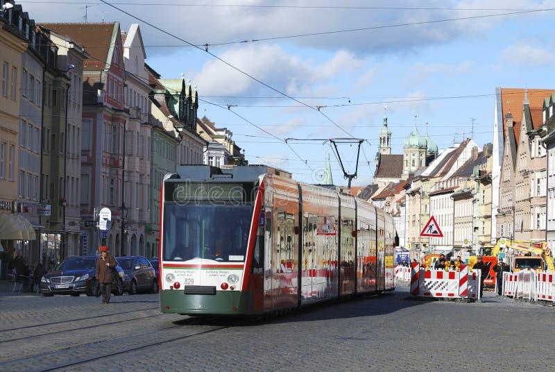 Drahtseilbahn in Augsburg lizenzfreie stockfotos