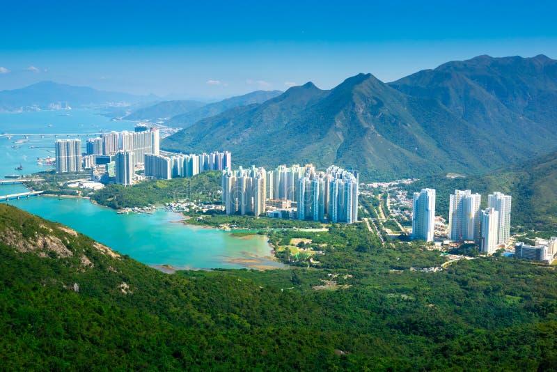 Drahtseilbahn Ngong-Klingelns 360 auf Lantau-Insel, Hong Kong lizenzfreies stockbild