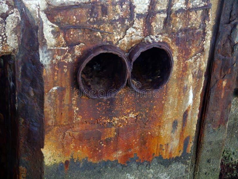 Drain de l'eau dans la baie de la c?te de la ville de Cadix, Andalousie l'espagne photographie stock libre de droits