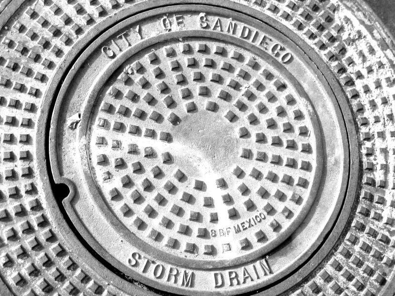Drain de tempête de San Diego photos stock