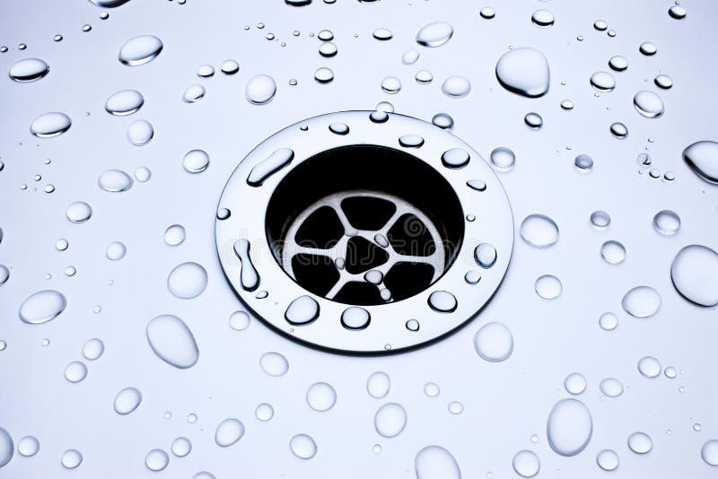 drain drained arkivbild