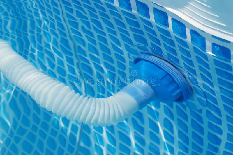 Drain tube. Pool drain tube close up royalty free stock photography