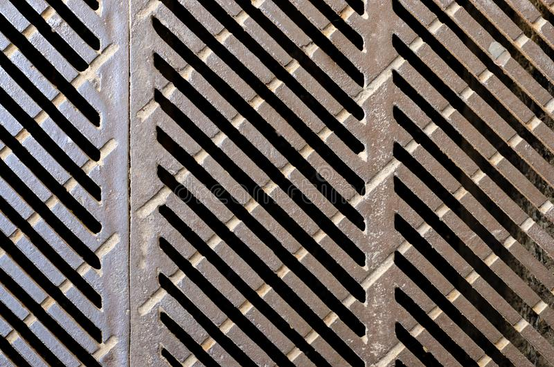 The drainage hatch royalty free stock photos