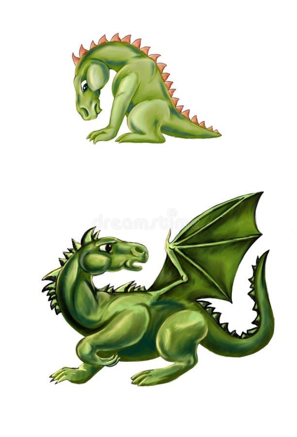 drakar royaltyfri illustrationer