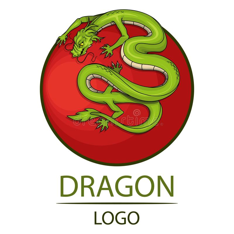 Drake dimensionellt illustrationsymbol tre för härligt porslin 3d mycket vektor illustrationer