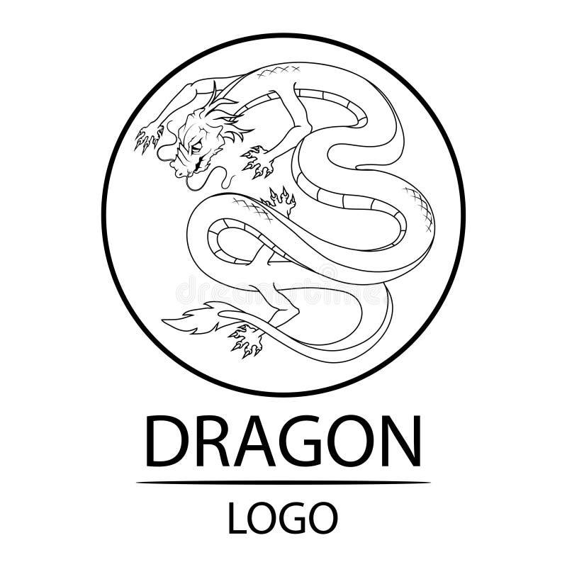 Drake dimensionellt illustrationsymbol tre för härligt porslin 3d mycket royaltyfri illustrationer