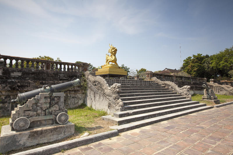 Drake i Hue Citadel royaltyfria foton
