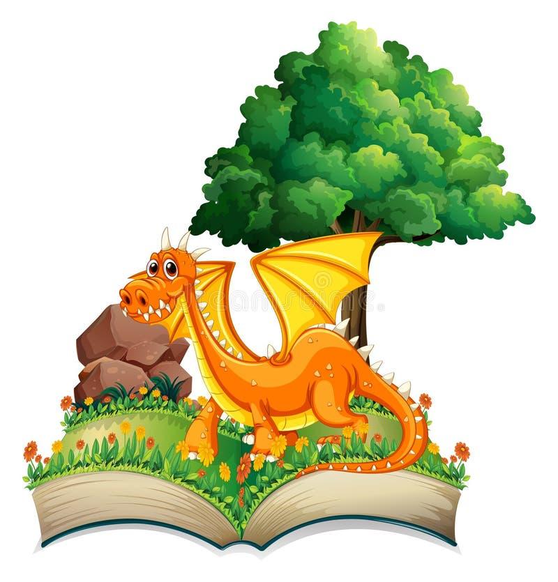 Drake och bok stock illustrationer