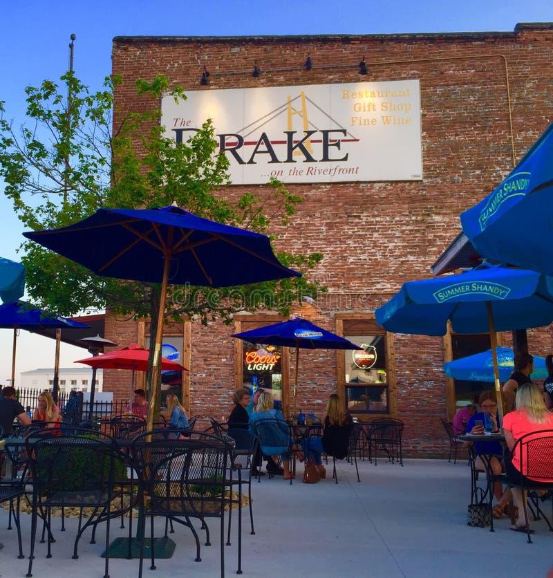 Drake Restaurant en Burlington Iowa fotografía de archivo libre de regalías