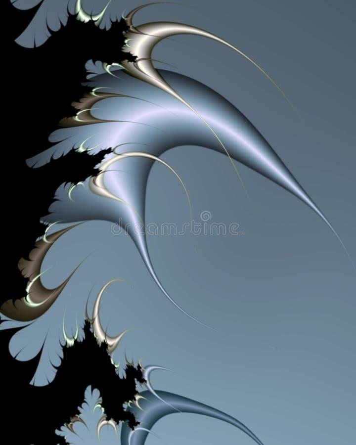 drakefractaltaggar stock illustrationer
