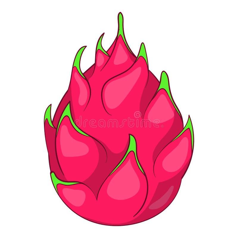 Drakefruktsymbol, tecknad filmstil stock illustrationer
