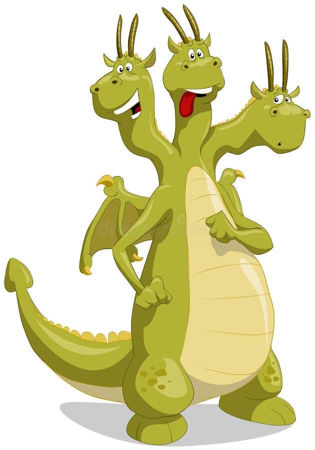 drakegreen royaltyfri illustrationer
