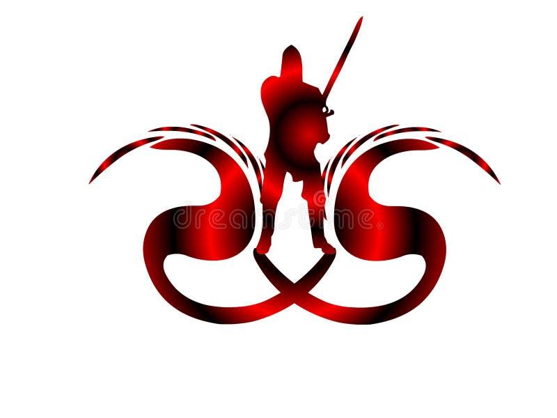 drakelogoslayer royaltyfria bilder