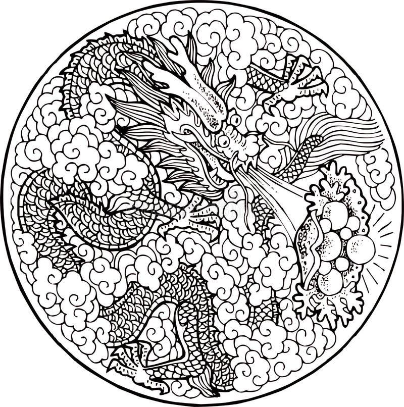 drakemyth vektor illustrationer