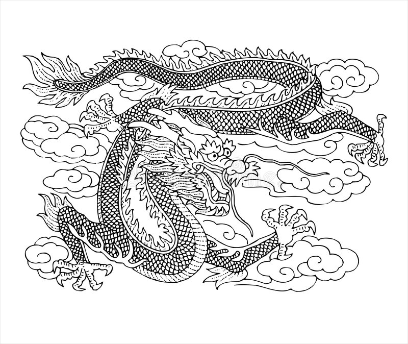 drakemyth royaltyfri illustrationer