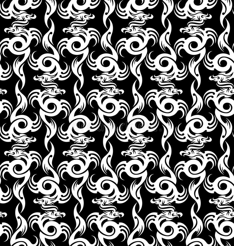Draken stock illustratie