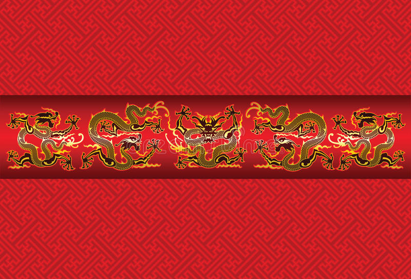 Draken royalty-vrije illustratie
