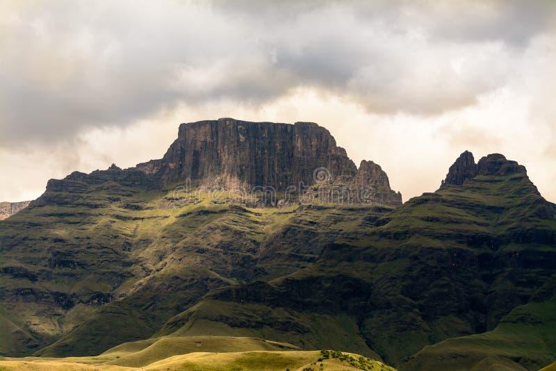 Drakensberg mountain. Cathking peak, situated in Central Drakensberg, KZN, South Africa stock photography