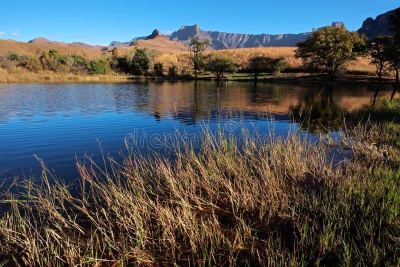 Drakensberg mountains. View of the Drakensberg mountains, Royal Natal National Park, South Africa royalty free stock photos