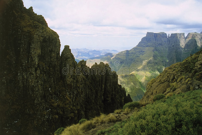 Drakensberg Mountains. The Drakensberg Mountains in South Africa royalty free stock image