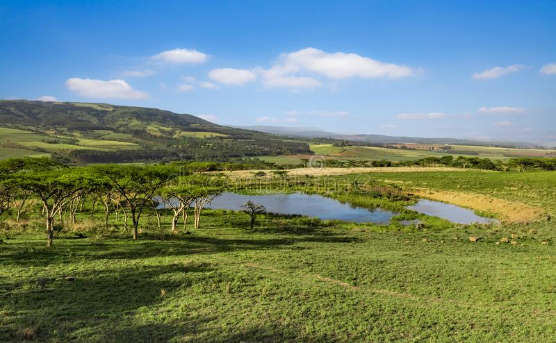 Drakensberg mountains South Africa landscape. Drakensberg mountains landscape near the Albert Falls South Africa stock images