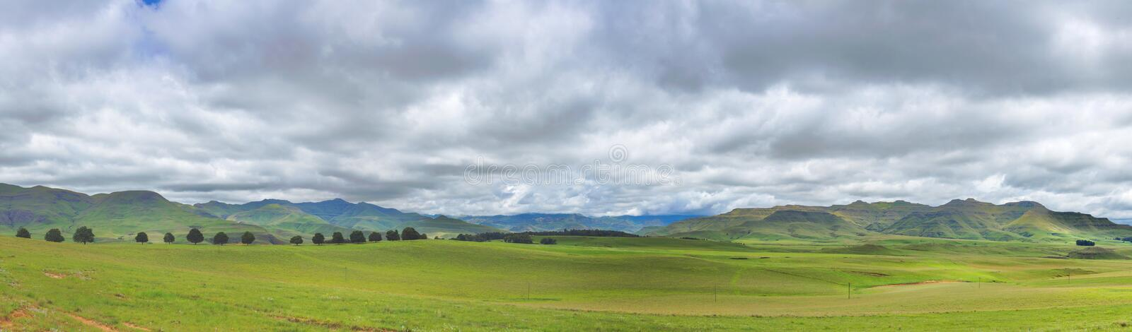 Drakensberg panorama and clouds. South Africa stock photo