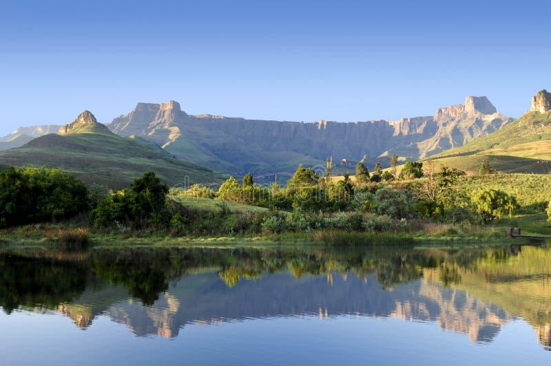 Drakensberg relfection obraz royalty free