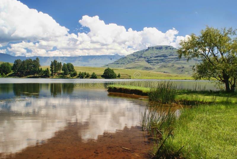 Drakensberg Vista. View of the Drakensberg mountains from Castleburn, KZN, South Africa royalty free stock images