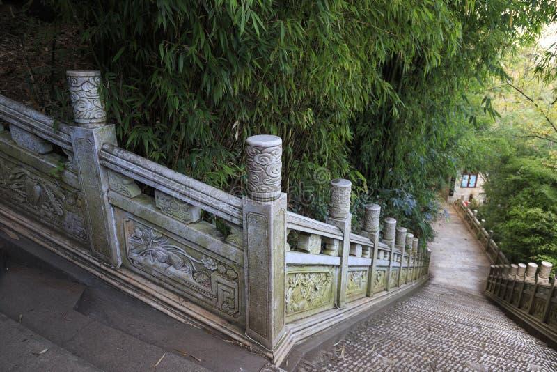 Drakeport och tempel i Kunming Kina arkivfoto