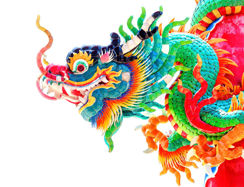Drakestaty för kinesisk stil arkivbild