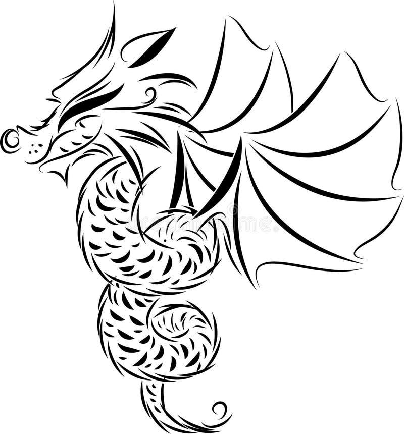drakesymbol royaltyfri illustrationer