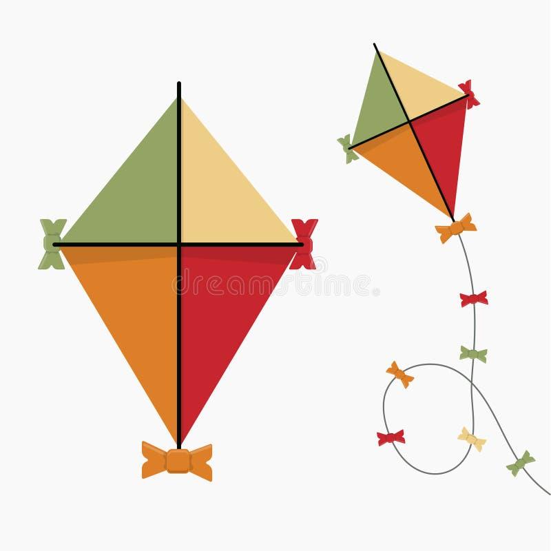 drakesymbol Retro färg för tappning Plan design också vektor för coreldrawillustration royaltyfri illustrationer