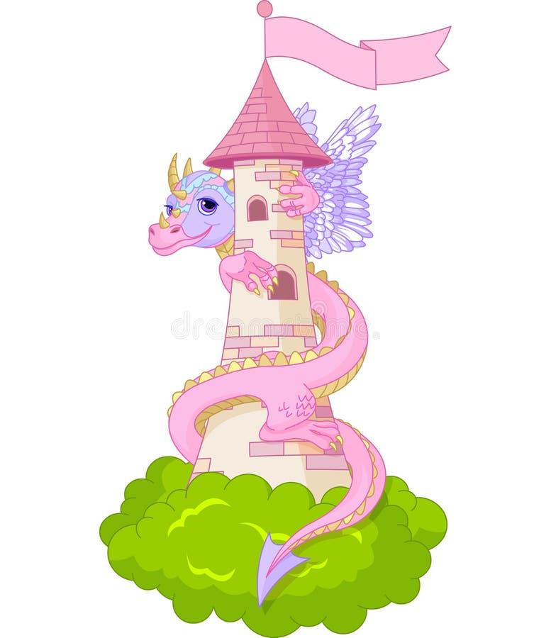 draketorn stock illustrationer
