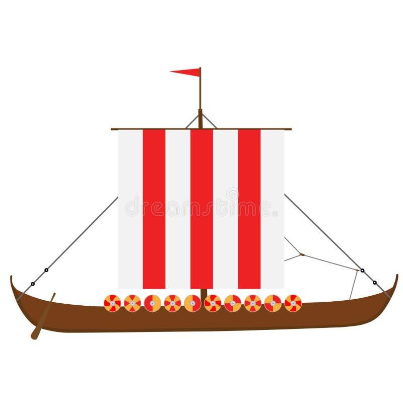 Drakkar ilustración del vector