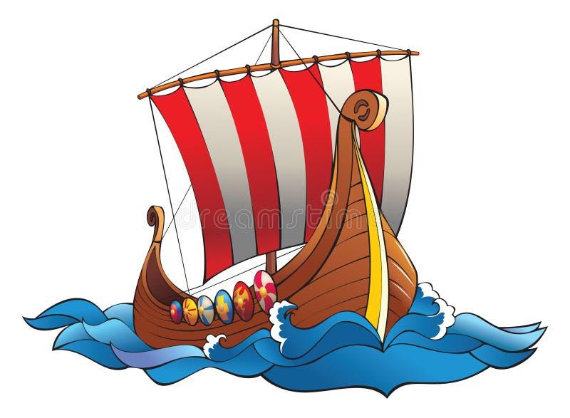 Drakkar di Vichinghi royalty illustrazione gratis