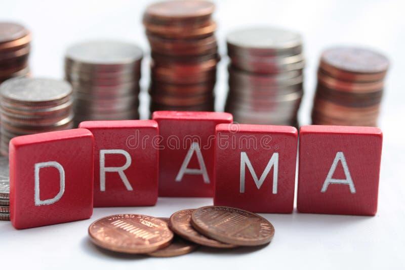 Drama auf dem Geldmarkt lizenzfreie stockbilder