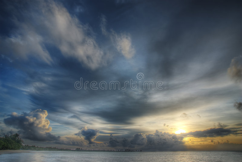 Drama in the clouds royalty free stock photos