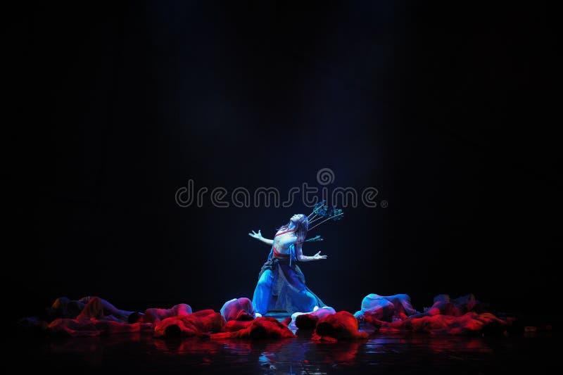 Drama de la danza de los arqueros- imagen de archivo