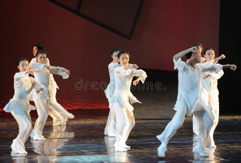 Drama de la danza del boxeo- de Taiji la leyenda de los héroes del cóndor foto de archivo