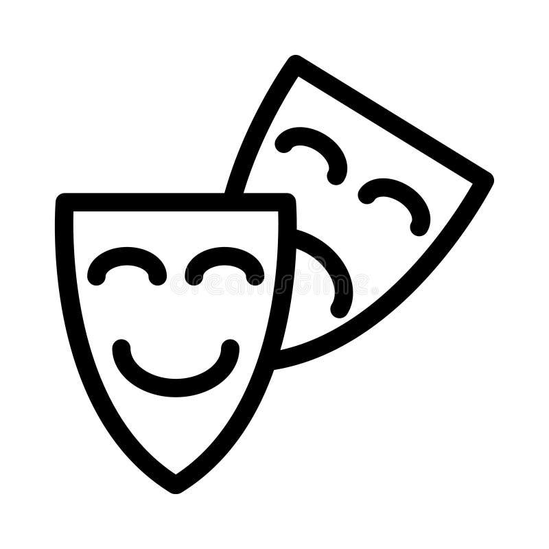 Drama icon. Drama Stream Line icon stock illustration