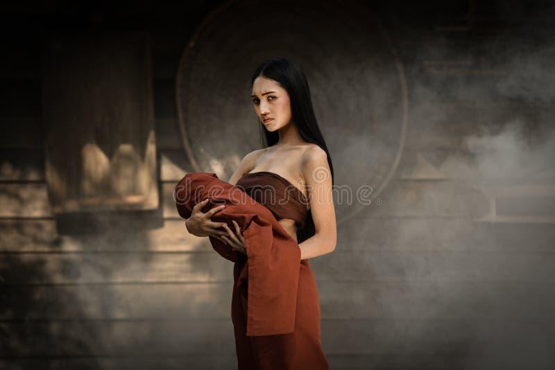 Drama tailandês do vestido tailandês fotos de stock