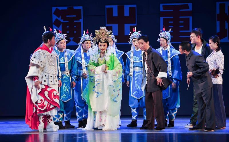 Drama- und Wirklichkeitjiangxi-OperaBlue Mantel lizenzfreie stockbilder