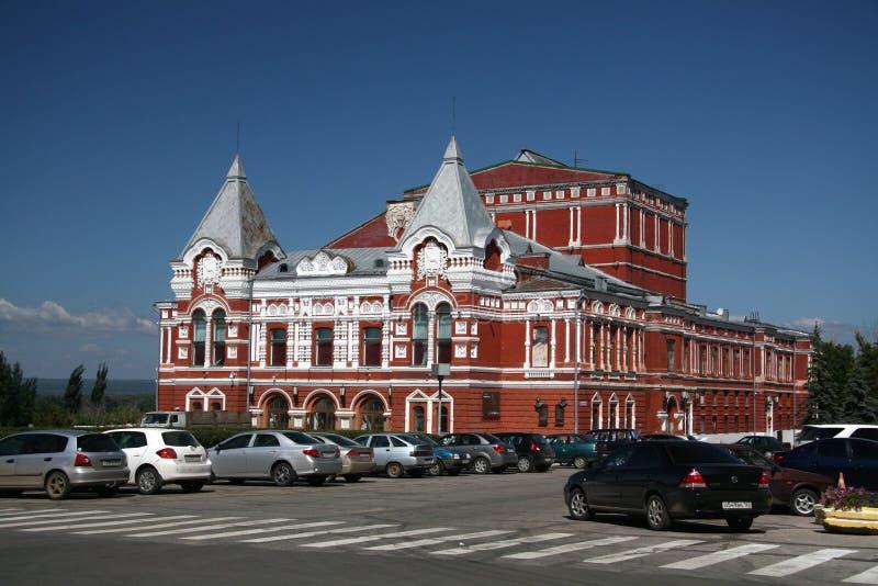 Dramateater i Samara royaltyfria foton