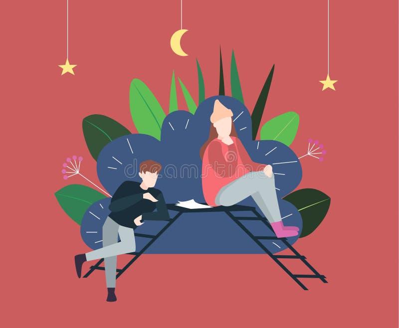 Dramatheater und Künstler zwei Rollen proben stockbild