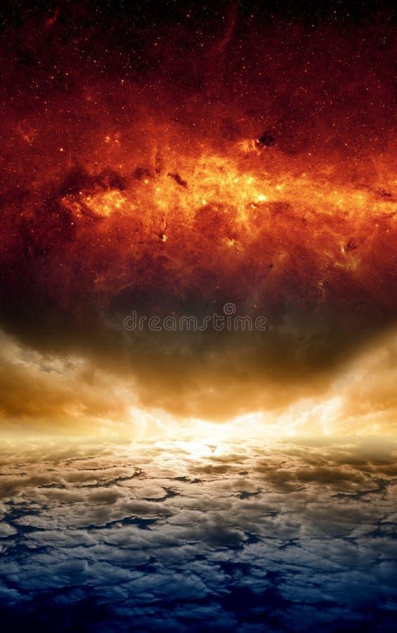 Dramatic apocalyptic background stock images