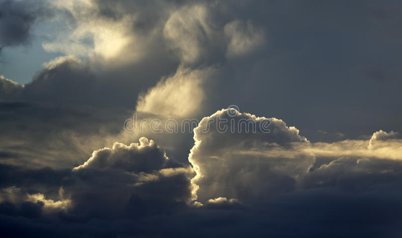 Dramatic beautiful cloudy winter sky stock images